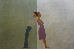 Motsättningar och skillnader av män och kvinnor arkivfoton