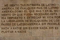 Mots écrits espagnols de Che Guevara Photos stock