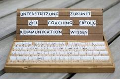 Mots allemands : Entraînement d'Erfolg Ziel Photos libres de droits