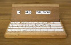 Mots allemands : Ja Nein Vielleicht Photo stock