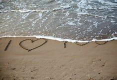 Mots au sujet de l'amour Image stock