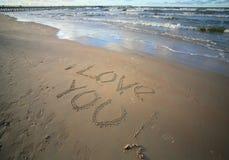 Mots au sujet de l'amour Image libre de droits
