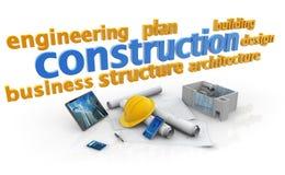Mots-clés d'industrie du bâtiment illustration stock