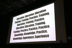 Mots-clés pour la formation d'affaires de l'ARO de succès Image libre de droits