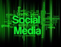 Mots-clés sociaux de media illustration libre de droits