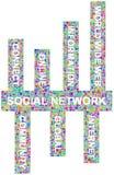 Mots-clés sociaux de réseau Photos stock
