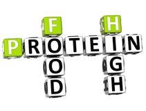 mots croisé élevés de nourriture de la protéine 3D Images libres de droits