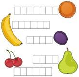 Mots croisé avec des fruits Illustration de Vecteur