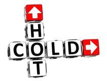 mots croisé 3D froids chauds Image libre de droits