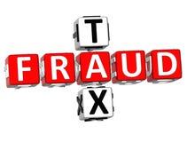 mots croisé d'impôts de la fraude 3D Image stock