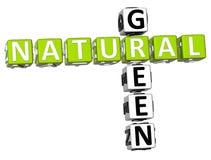 mots croisé 3D verts naturels Photographie stock