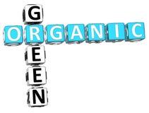 mots croisé 3D verts organiques Image libre de droits