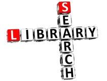 mots croisé de bibliothèque de la recherche 3D Photo libre de droits