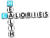 mots croisé de calories de la santé 3D Photos libres de droits