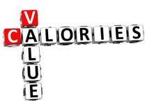 mots croisé de calories de la valeur 3D Image libre de droits