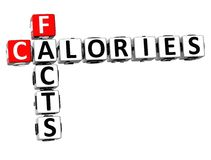 mots croisé de calories des faits 3D illustration libre de droits