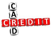 Mots croisé de carte de crédit Image stock
