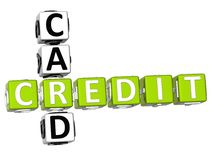 Mots croisé de carte de crédit Images stock