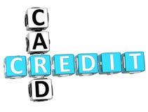 Mots croisé de carte de crédit Photos libres de droits