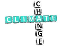 Mots croisé de changement climatique Image stock