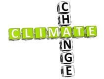 Mots croisé de changement climatique Photos stock