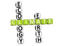 Mots croisé de climat d'écologie Image libre de droits