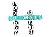 Mots croisé de climat d'écologie Images libres de droits