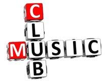 mots croisé de club de la musique 3D Image libre de droits