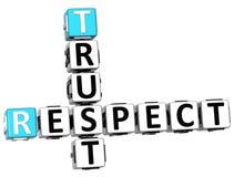 mots croisé de confiance du respect 3D Illustration Libre de Droits
