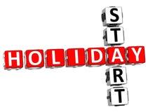 mots croisé de début des vacances 3D Image libre de droits