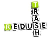 mots croisé de déchets de 3D Reduse Photo libre de droits