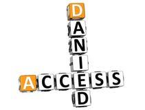 mots croisé de 3D Danied Access Images libres de droits