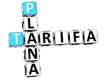 mots croisé de 3D Tarifa Plana Images libres de droits