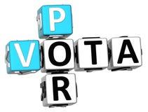 mots croisé de 3D Vota Por Photographie stock libre de droits