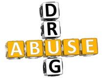 mots croisé de drogue de l'abus 3D Image libre de droits