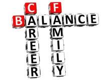 mots croisé de famille de la vie de l'équilibre 3D Image libre de droits