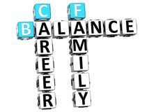mots croisé de famille de la vie de l'équilibre 3D Photos libres de droits