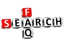 mots croisé de FAQ de la recherche 3D illustration stock