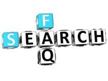 mots croisé de FAQ de la recherche 3D illustration libre de droits