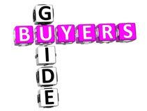 Mots croisé de guide d'acheteurs illustration libre de droits
