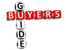 Mots croisé de guide d'acheteurs Photos libres de droits