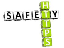 mots croisé de Https de la sécurité 3D Image stock