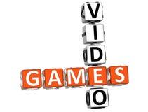 Mots croisé de jeux vidéo illustration libre de droits