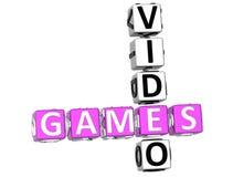 Mots croisé de jeux vidéo Photos libres de droits