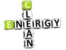 mots croisé de l'énergie propre 3D Image libre de droits