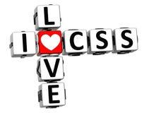 mots croisé de l'amour CSS de 3D I Image libre de droits