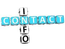 Mots croisé de l'information de contact Photographie stock libre de droits