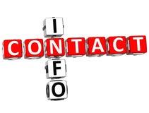 Mots croisé de l'information de contact Image libre de droits