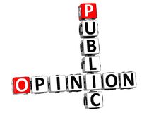 mots croisé de l'opinion 3D publique Image libre de droits