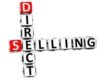 mots croisé de la vente directe 3D Images stock